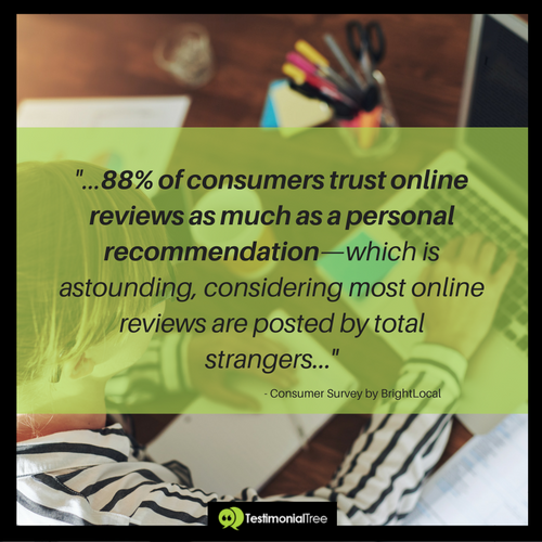 marketing stats  consumers trust online reviews