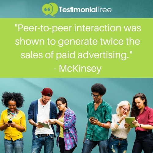 Peer-to-Peer-Interaction-Was-Shown-To-Generate-Twice-The-Sales-Of-Paid-Advertising-Quote-By-McKinsey-Word-Of-Mouth-Marketing-Testimonial-Tree